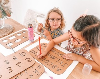 Timber Tots - Wood Learning Stencils For Children