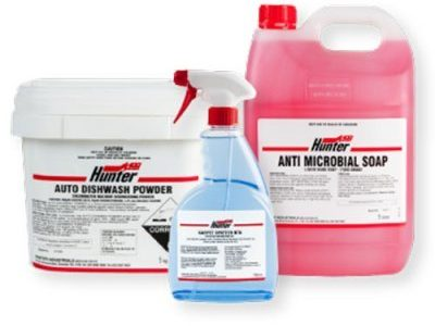 Hunter Industrials - Specialty range of chemical products, accessories and paper products.